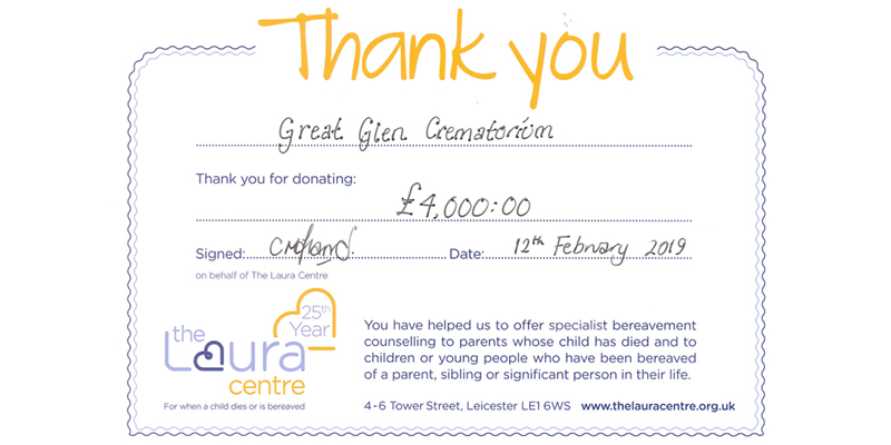 Donation of £4000 to Laura Centre