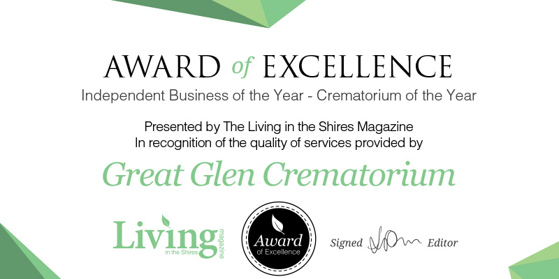Awarded 'Best Crematorium' by Living Magazine